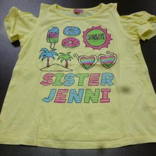 JENNI - ジェニィ 肩出しTシャツ 140cm 薄黄 薄手