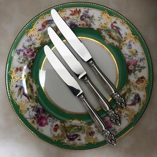 マイセン(MEISSEN)のLUNT ラント/純銀 スターリングシルバー/ナイフ 3本「ポピー」(食器)