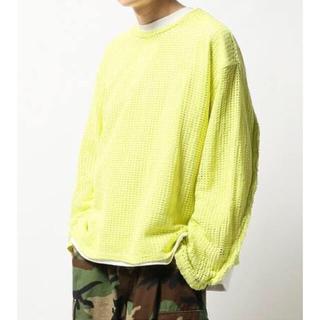 ジエダ(Jieda)のJieDa MESH L/S T-SHIRT YELLOW 2(Tシャツ/カットソー(七分/長袖))