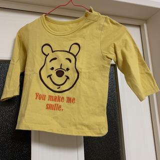 ユニクロ(UNIQLO)のユニクロ プーさん 薄手 長袖 ティシャツ   80(Tシャツ)