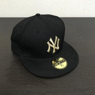 ニューエラー(NEW ERA)のNew era cap 59FIFTY black gold 7 1/2 NY(キャップ)