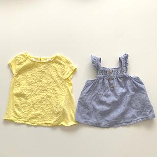 ザラキッズ(ZARA KIDS)のZARA BABY GIRL トップス2枚セット(Tシャツ)