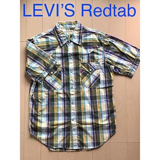 リーバイス(Levi's)のLEVI'S Redtab/半袖シャツ(M)ウェスタン調/パープル系チェック(シャツ)