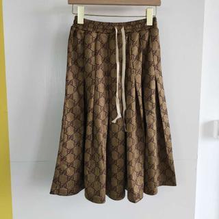 グッチ(Gucci)の【GUCCI】GGテクニカルジャージー スカート(ロングスカート)