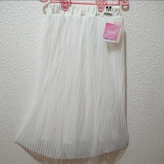 ディズニー(Disney)の新品 キッズ ミッキー チュール プリーツ ロング スカート♥160 しまむら(ロングスカート)