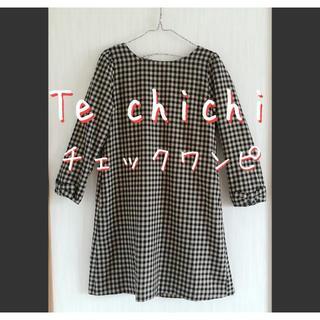 テチチ(Techichi)の美品 Te chichi テチチ チェック そでリボン ワンピース(ひざ丈ワンピース)