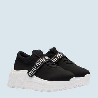 ミュウミュウ(miumiu)のmiumiu 靴 ストレッチネオプレンファブリック スニーカー(スニーカー)