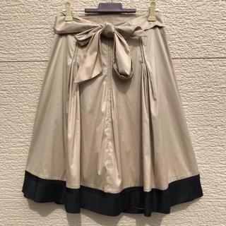 トゥービーシック(TO BE CHIC)の新品 TO BE CHIC スカート ベージュ 黒 40(ひざ丈スカート)
