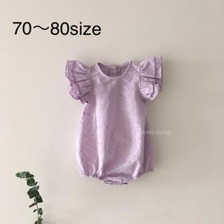 petit main - 新品未使用 タグ付き 韓国子供服 ロンパース 女の子  70㎝ 80㎝