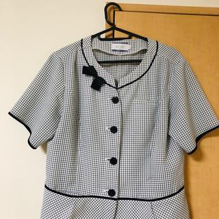 エンジョイ(enjoi)の13号事務服夏用オーバーブラウス(シャツ/ブラウス(半袖/袖なし))