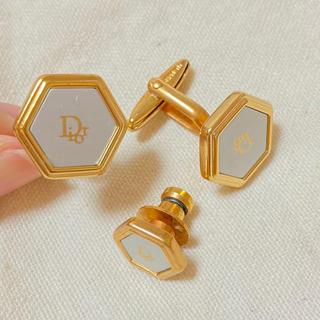 クリスチャンディオール(Christian Dior)のクリスチャン・ディオール カフス&タイピンセット(ネクタイピン)