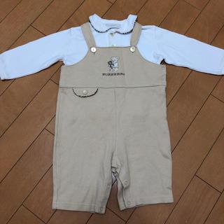 バーバリー(BURBERRY)のバーバリー オーバーオールとシャツのセット(カバーオール)