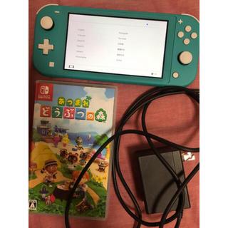 ニンテンドースイッチ(Nintendo Switch)のSwitch lite 本体 ターコイズ あつまれどうぶつの森(家庭用ゲーム機本体)