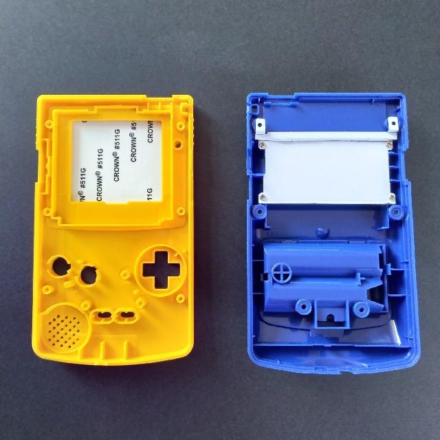 ゲームボーイ(ゲームボーイ)のゲームボーイカラー GBC 新品外装 シェルケース ポケモン ピカチュウスク エンタメ/ホビーのゲームソフト/ゲーム機本体(携帯用ゲーム機本体)の商品写真