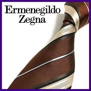 エルメネジルドゼニア(Ermenegildo Zegna)のエルメネジルドゼニア シルクネクタイ イタリア製 高級 人気ブランド 美品(ネクタイ)
