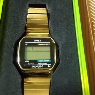 タイメックス(TIMEX)のTIMEX 80 CLASSIC  ゴールド(腕時計(デジタル))