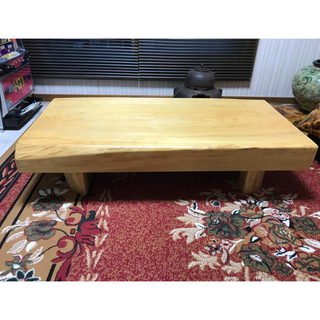 ☆超美品☆一枚板テーブル☆ 一枚板 座卓 無垢 銘木 天然木(ローテーブル)