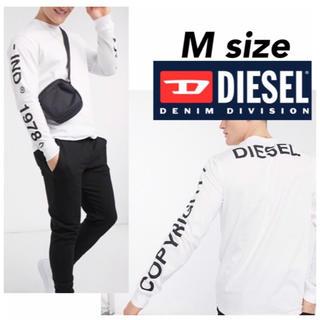 ディーゼル(DIESEL)の DIESEL ディーゼル ロンT 長袖 Tシャツ ロングスリーブ ホワイト M(Tシャツ/カットソー(七分/長袖))
