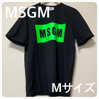 エムエスジイエム(MSGM)の【新品送料込】MSGM Tシャツ 黒/緑 ブラック/グリーン サイズM(Tシャツ/カットソー(半袖/袖なし))