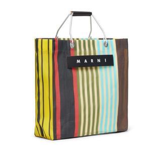 マルニ(Marni)の新品未開封 MARUNI マルニ ストライプバッグ マルチイエロー(トートバッグ)