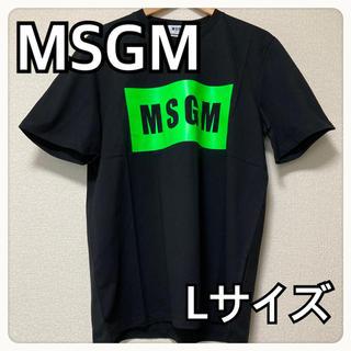 エムエスジイエム(MSGM)の【新品送料込】MSGM Tシャツ 黒/緑 ブラック/グリーン サイズL(Tシャツ/カットソー(半袖/袖なし))