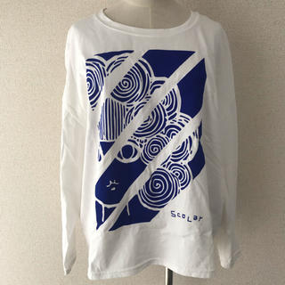 スカラー(ScoLar)のScoLar 長袖カットソー シャツ スカラーちゃん プリント ロングTシャツ(Tシャツ(長袖/七分))
