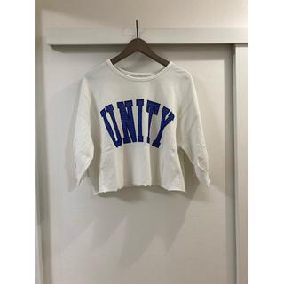 ケービーエフ(KBF)のKBF  スウェット Tシャツ 七分袖 ロゴ(Tシャツ(長袖/七分))