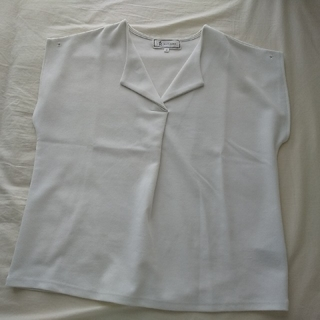 ロペピクニック(Rope' Picnic)のROPE PICNIC ロペピクニック ホワイト 白 カットソー ノースリーブ(カットソー(半袖/袖なし))