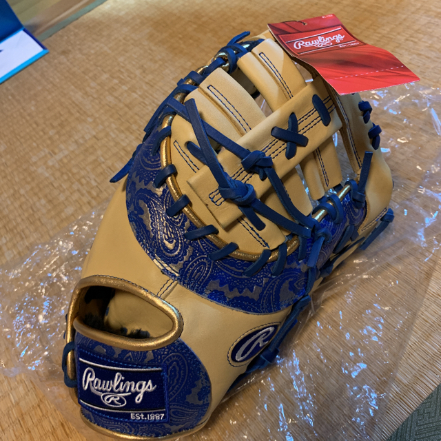 Rawlings(ローリングス)の新品未使用 完売品 ローリングス ファーストミット 一塁手 ペイズリー 限定 スポーツ/アウトドアの野球(グローブ)の商品写真