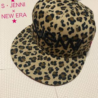 ジェニィ(JENNI)の【レア!美品】シスタージェニィ × NEW ERA コラボ ヒョウ柄 キャップ(帽子)