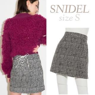 snidel - レースアップミニスカート 台形スカート ミニスカート