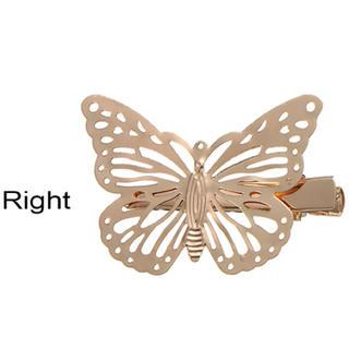 蝶々ヘアクリップ ヘアアクセサリー レディース ヘアアクセ バタフライ 2セット(ヘアアクセサリー)