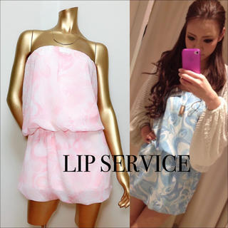 LIP SERVICE - LIP SERVICE シフォン ベア ワンピース♡セシルマクビー Rady