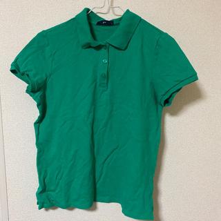 ジーユー(GU)のジーユー ポロシャツ レディース Lサイズ 緑(ポロシャツ)