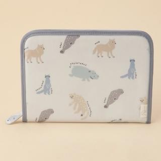 gelato pique - gelato pique旭山動物園 横型母子手帳ケースブルー