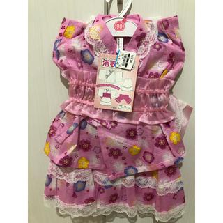 ニシマツヤ(西松屋)の浴衣ドレス 甚平 女の子 90サイズ(甚平/浴衣)