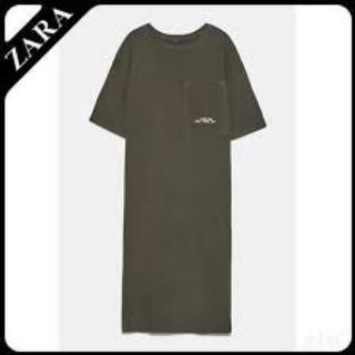 ザラ(ZARA)のポケット付きプラッシュ地ワンピース ZARA ザラ(ミニワンピース)