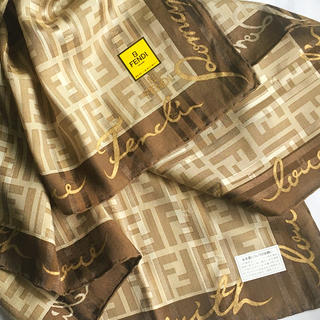フェンディ(FENDI)のフェンディ シルク混スカーフ R ★新品未使用★(バンダナ/スカーフ)