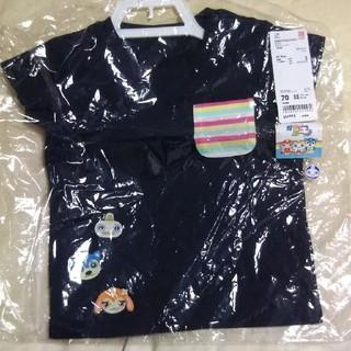 ユニクロ(UNIQLO)のユニクロ EテレグラフィックTシャツ ネイビー 70(Tシャツ)