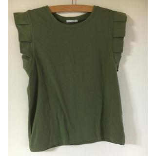 オペークドットクリップ(OPAQUE.CLIP)のオペークドットクリップ 袖フリルトップス(Tシャツ(半袖/袖なし))