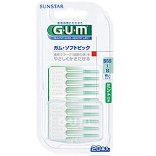 サンスター(SUNSTAR)のガム・ソフトピック ミント付き(歯ブラシ/デンタルフロス)