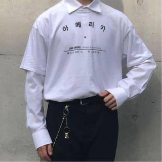 ラフシモンズ(RAF SIMONS)のraf simons ハングルシャツ(Tシャツ/カットソー(半袖/袖なし))