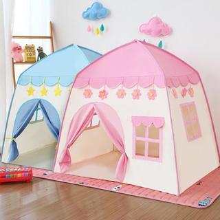 知育  子供用テント 子ども テントキッズテント ピンク 女の子 ライト付き公園(テント/タープ)