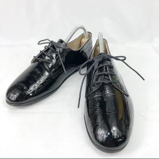 マーガレットハウエル(MARGARET HOWELL)の【専用】マーガレットハウエル 3ホール エナメルレザー 革靴 23cm(ローファー/革靴)
