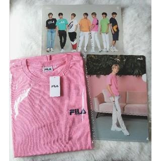 FILA - 【お値下げ】BTS FILA Tシャツ+クリアファイル付き(2枚)♡Jimin♡
