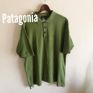 パタゴニア(patagonia)の最終価格  パタゴニア ポロシャツ グリーン 古着(ポロシャツ)