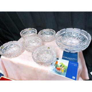 未使用 6枚セット ホヤ HOYA crystal 食器 サラダ 小鉢 ガラス(食器)