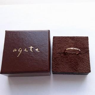 アガット(agete)のagete k10 YG リング(リング(指輪))