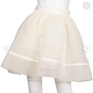 スナイデル(snidel)のsnidel バックリボンスカート(ひざ丈スカート)