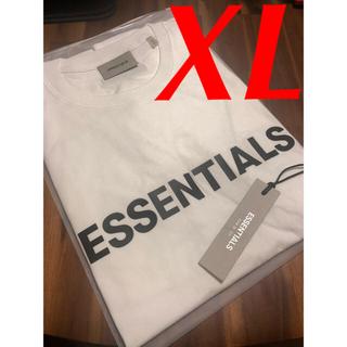 フィアオブゴッド(FEAR OF GOD)の【新作】FOG Essentials Boxy ロゴ Tシャツ 白×黒 XL(Tシャツ/カットソー(半袖/袖なし))